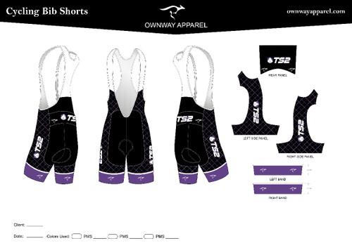 TS2 Purple Bibs Shorts