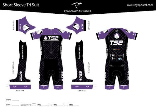 TS2 Purple Short Sleeve Tri Suit