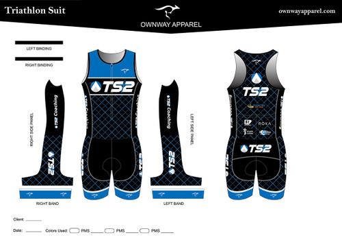 TS2  Blue Tri Suit