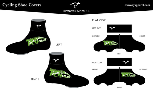 Chattanooga Tri Club Winter Cycling Shoe Covers