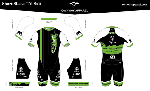 Chattanooga Tri Club Short Sleeve Tri Suit