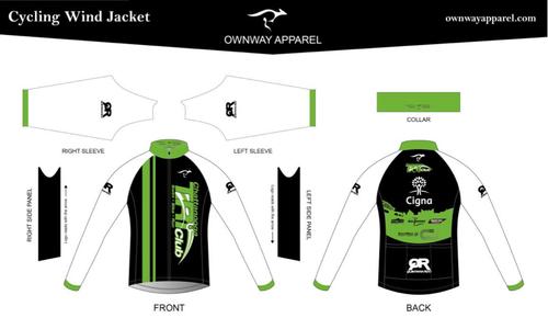 Chattanooga Tri Club Wind Jacket