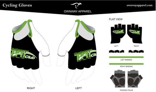 Chattanooga Tri Club Cycling Gloves