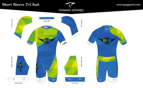 Fly Tri Short Sleeve Tri Suit
