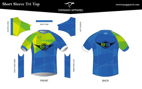 Fly Tri Short Sleeve Tri Top