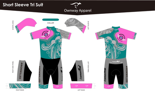 Iron Willed Short Sleeve Tri Suit