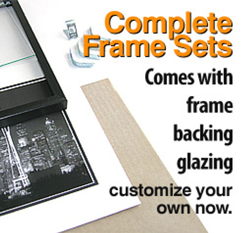 11 x 14 Frame Set (Complete with Standard Clear Glass and Cardboard Backing)