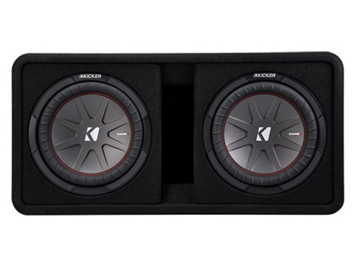Kicker CompR Dual 10-Inch 2 Ohm Subwoofer Enclosure Box