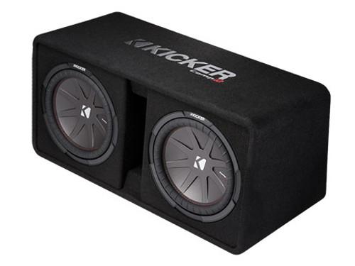 Kicker CompR Dual 12-Inch 2 Ohm Subwoofer Enclosure Box