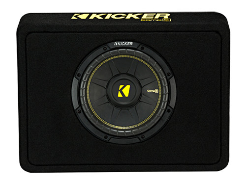 Kicker 10 inch CompC 4 Ohm Single Subwoofer Enclosure