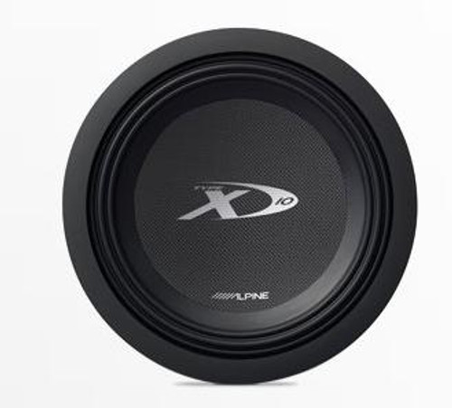 Alpine Type-X 10 Subwoofer with Dual 4-Ohm Voice Coils - SWX-1043D