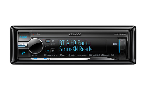 Kenwood Excelon CD Receiver with Built-in Bluetooth and HD Radio - KDC-X998