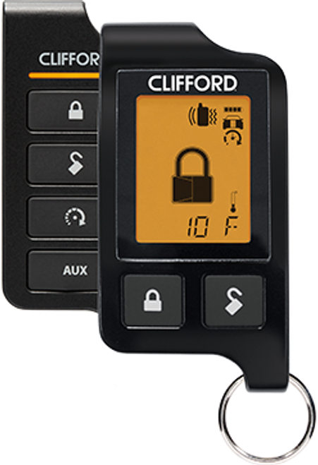 Clifford Car Remote Start Alarm Keyless Entry LCD Screen 2 Way System - 4706X