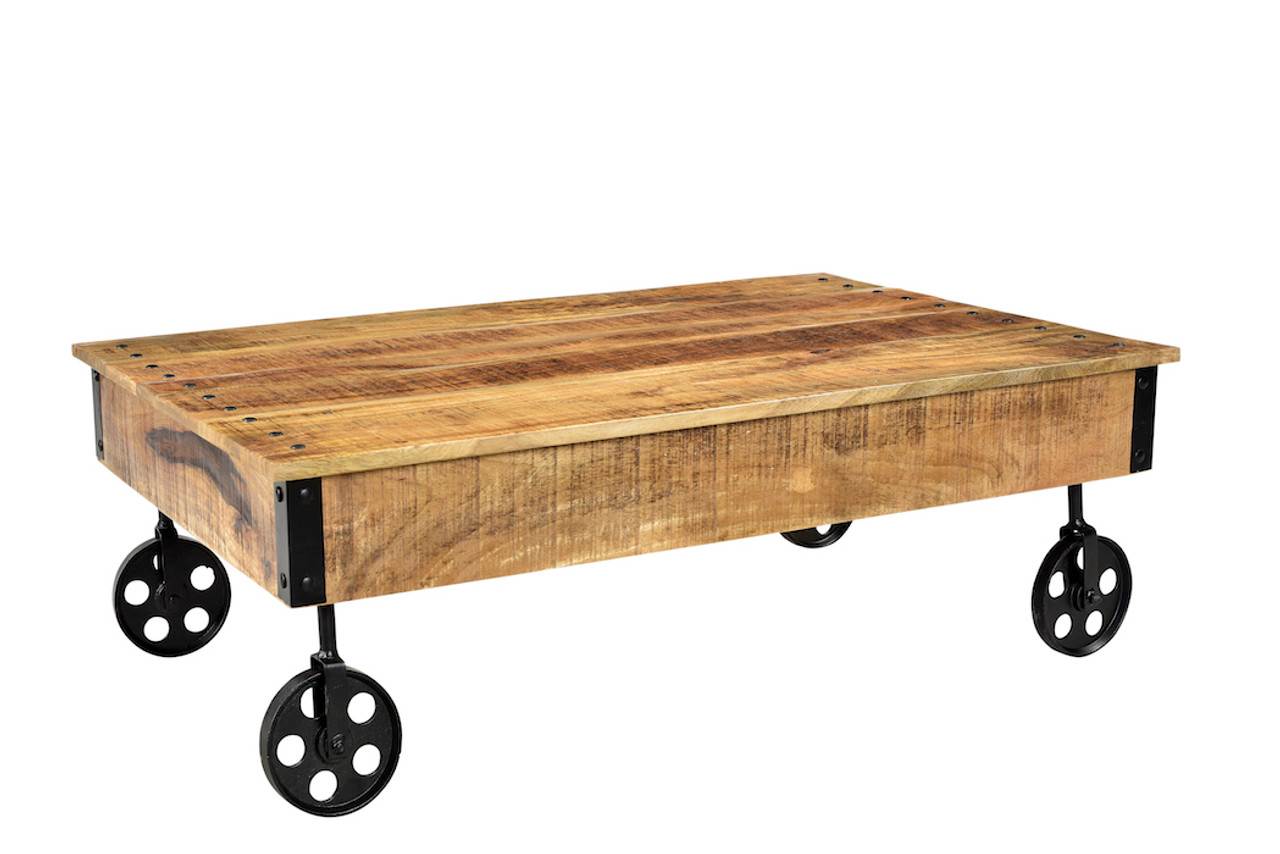Industrial Cart Wheels Coffee Table