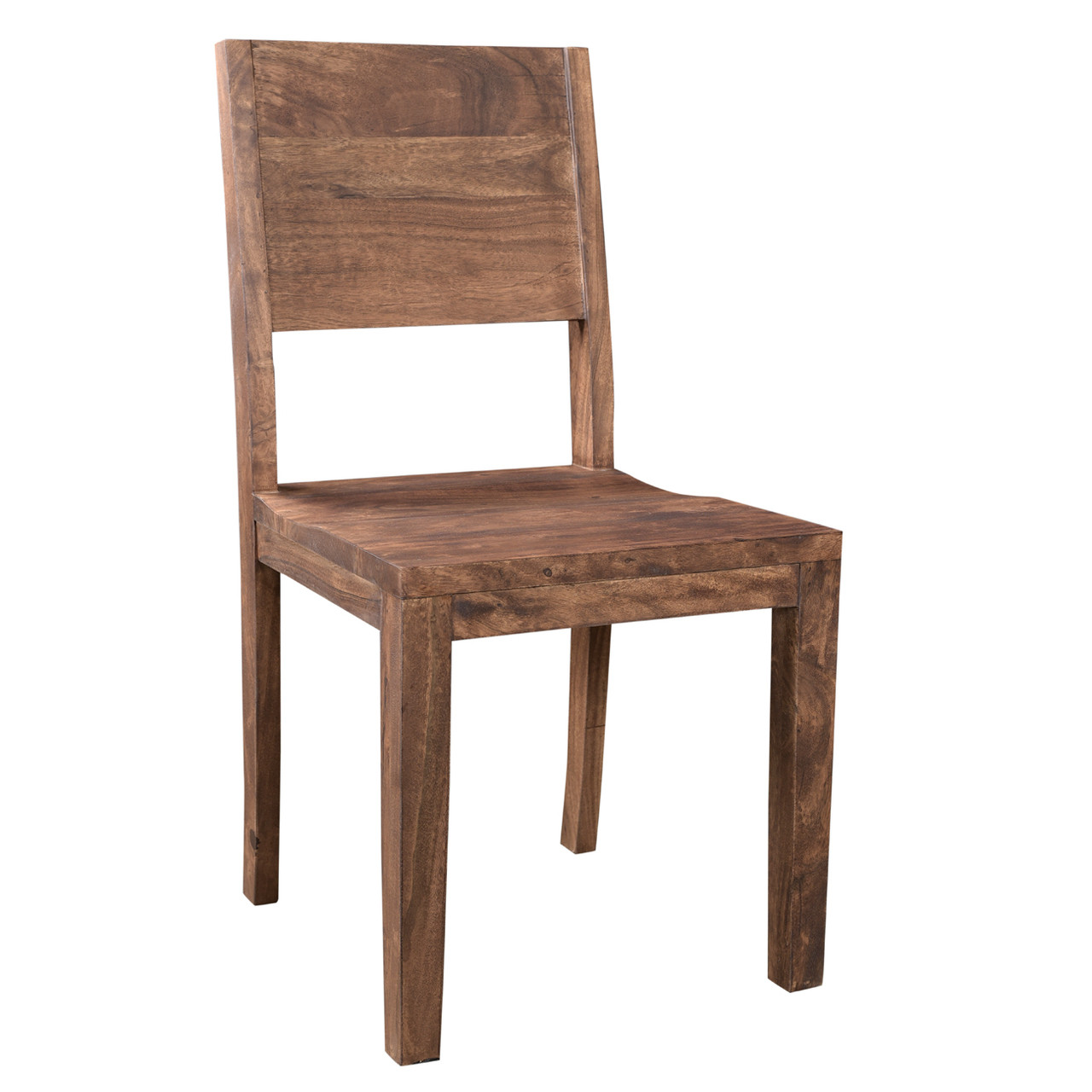 Marvelous Simple Acacia Wood Dining Chair   Set Of 2