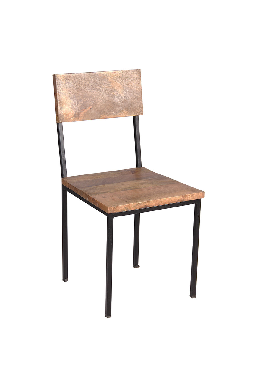 Timbergirl Reclaimed Wood And Metal Chair   Set Of 2