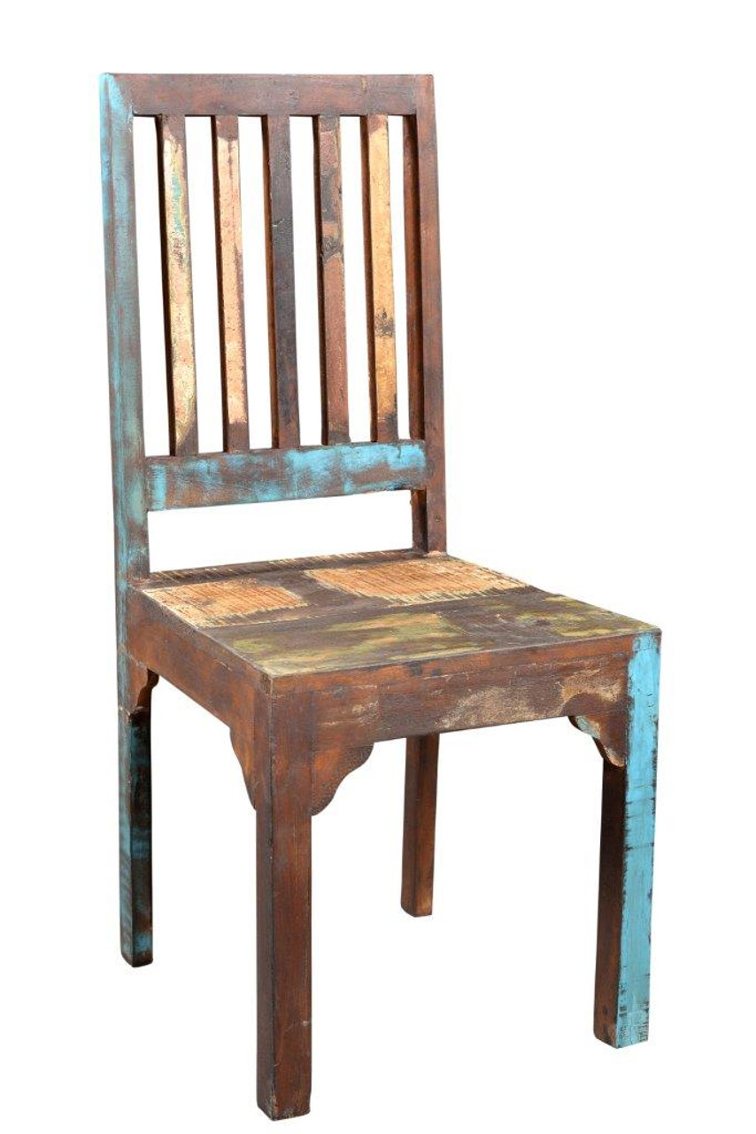 Nice Timbergirl Reclaimed Wood Rustic Multicolor Chair  Set Of 2