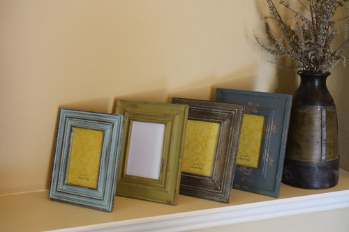 4 Piece Carved Reclaimed Wood Picture Frame Set - Timbergirl