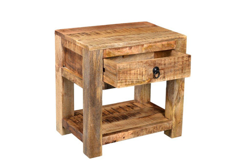 ... Timbergirl Surat Solid Wood Bedside Table ...