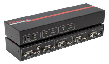 2-Port VGA Switch with Audio & Serial Control