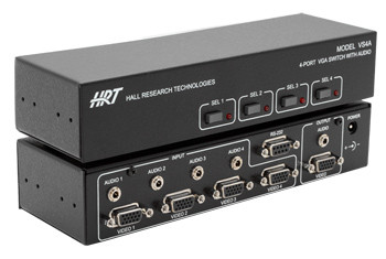 4-Port VGA Switch with Audio and Serial Control