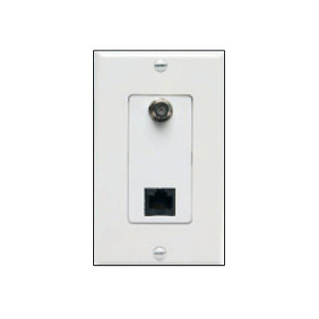 LTD Converter - FRJ Decora White Wallplate