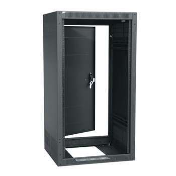 18 SPACE (31-1/2) 25 DEEP STAND ALONE RACK WITH REAR DOOR BLACK FINISH