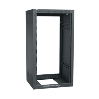 27 SPACE (47-1/4) 19-1/2 DEEP STAND ALONE RACK LESS REAR DOOR BLACK FINISH
