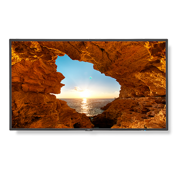 "55"" Commercial-Grade Large Format Display with Integrated Tuner"