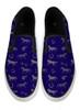 Navy Blue Hunter Jumper Horse Pattern Slip On Shoes