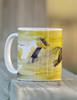 Yellow galloping horses coffee mug