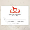 Red and Black Horse Wedding RSVP card