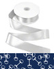 Blue and white horse bits ribbon