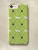 Lime Green Trotting Horse Pattern Phone Case