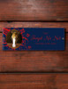 Custom Horse Stall Name Plate with red flowers