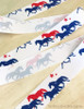 Patriotic Trotting Horses Equestrian Ribbon