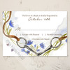 Watercolor Horse Bit Wedding RSVP card
