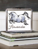 Hunter Jumper Dappled Gray Pony Personalized Equestrian Lunch Box