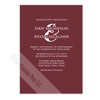 Wine and White Colored Invite
