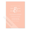 Peach Pink and White Colored Invite