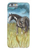 Black and white paint horse art phone case