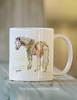 Ceramic Pony Art Equestrian Coffee Mug
