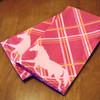 Plaid Horse Pattern Cloth Napkin
