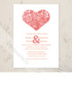 Country Paisley Heart Save The Date Postcards (25 pk)