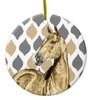 Stylish Buckskin Horse Christmas Ornament