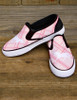 Pink Plaid Horse Lover Slip On Shoes