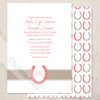 Lucky In Love Horse Shoes Wedding Invitation (10 pk)