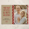 Festive Striped Christmas Photo Card