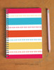 Modern Striped Horse Bits Pattern Spiral Notebook