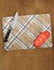 Plaid Horse Bits Equestrian Pattern Glass Cutting Board